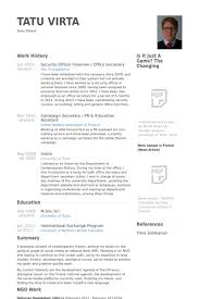 Office Secretary Resume Samples Visualcv Resume Samples Database