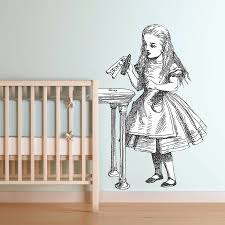 awesome drink me u alice in wonderland wall sticker by oakdene designs for decor style and