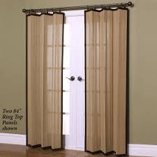 patio door curtain panel with bamboo curtain materials and wooden pattern floor full size
