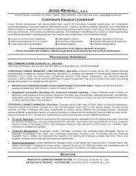 Sample Resume For Finance Finance Resume Examples Resume Samples For