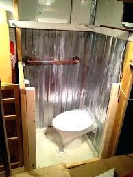 corrugated metal bathroom walls corrugated metal wainscoting