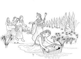 moses in the bulrushes coloring page - Google Search | pre-K ...