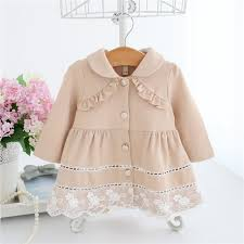 girls trench coat spring 2018 lace kids jackets baby girls clothes fashion infant toddler jacket outwear 0 2t toddler girl coat kids fur coat from guoli0005