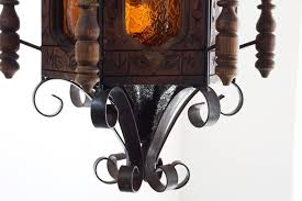 1960s spanish revival or mexican pendent light wrought iron in excellent condition for in