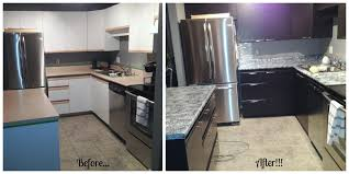 Before and After using Giani Granite Countertop Paint and Nuvo ...