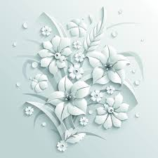 Paper Flower Background Paper Flower Background Vector Free Vector In Encapsulated