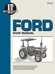 ford tractor manual ford tractor shop manual