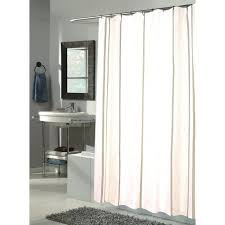 freestanding sink vanity with mirrored vanity and white smart rod double curved tension shower curtain rod