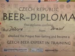 beer diploma picture of prague beer tours prague tripadvisor prague beer tours beer diploma