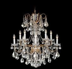 image of modern schonbek crystal chandelier