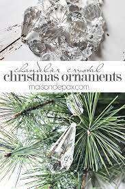 add chandelier crystals to your tree via maisondepax com