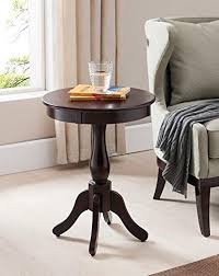 Cherry accent table Furniture Kings Brand Furniture Cherry Finish Wood Round Pedestal Side Accent Table Lotartcom Amazoncom Kings Brand Furniture Cherry Finish Wood Round Pedestal