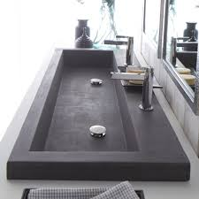 modern bathroom double sinks. Modern Trough Sink Instead Of Double Vanities. Maybe Do Wall Mounted Faucets Instead. Bathroom Sinks A