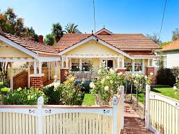 Small Picture Brick californian bungalow house exterior with picket fence