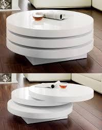 triplo round gloss swivel coffee table