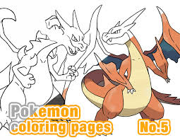 Small Picture pokemon coloring pages5Mega Charizard coloring pages