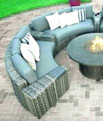 round patio couch curved sectional furniture outdoor inc sofa sets covers seat cushions target ou