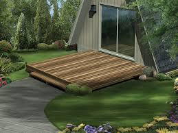 simple wood deck is perfect for a flat lot building simple e48