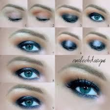 tutorial for smokey makeup for blue eyes