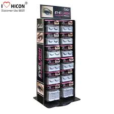 Table Top Product Display Stands Simple Advertising Table Top Metal Acrylic Eyelash Display Stand Rotating