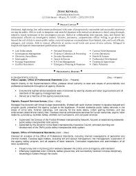 Police Captain Sample Resume Template Free Law Enforcement Resume