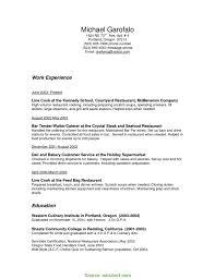 Newest Restaurant Bar Manager Resume Bartender Waiter Resume