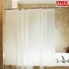 shower curtain liner mildew resistant bathroom clear design plastic vinyl hooks