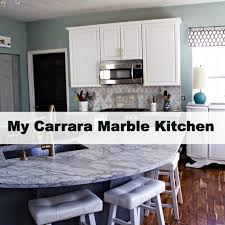 my carrara marble kitchen and tips for choosing marble countertops spinach tiger