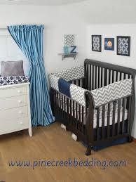 navy and grey chevron baby bedding design ideas