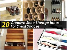 creative shoe storage for small spaces decor architectural home