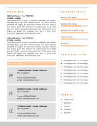 Alicia Resume Template; second page cv