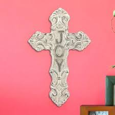 hanging aluminum joy cross wall stitch designs for hangings co decor