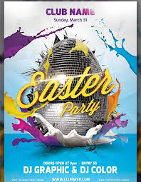 Easter Party Flayer Template Web3mantra Party Flyer