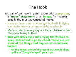 persuasive essay ppt video online the hook you can often hook in your reader a question a many statement