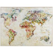 world map wall decor and