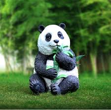 polyresin giant panda sculpture room park garden or kindergarten decor prototype statue of kongfu panda
