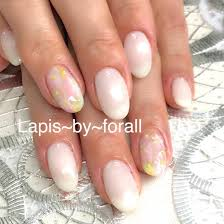 花柄デザイン大人気lia Nail 代表所属大谷寛子のネイルデザイン