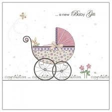 A New Baby Girl Congratulations Card