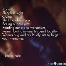 3 Am Sleepless Night Cry Quotes Writings By Sheetal Yadav