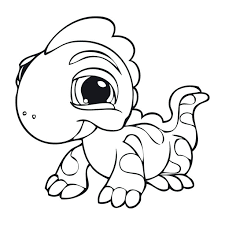 Lps Coloring Pages Baby Iguana From Free Littlest Pet Shop Coloring