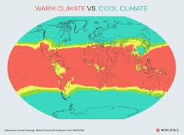 World Climate Zone Chart Warm Climate Vs Cool Climate Wines Wine Folly