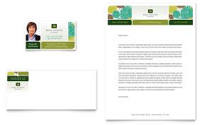 Real Estate Business Card Letterhead Template Word Publisher