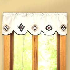 Southwestern Curtains Southwest And Valances Scalloped Window Valance Cheap