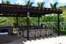 pergola miami. outdoor kitchen and pergola project mediterraneanpatio miami m