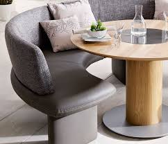 Painting Of Intimate And Affectionate Dining Atmospheres With Curved Bench Dining