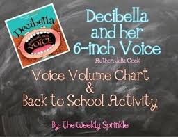 Decibella Voice Volumes Chart And Back To School Activity