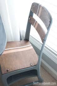 vintage metal school desk makeover