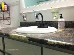 beautiful countertop vinyl covering or i chalk painted my bathroom countertops i actually love my chalk