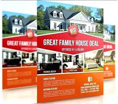 Open House Brochure Template Flyer Invitation Free Real Estate ...