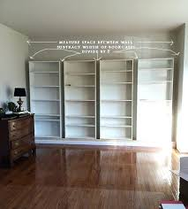 wall mounted tv shelf ikea shelves before extension measure how to build built in bookcases from